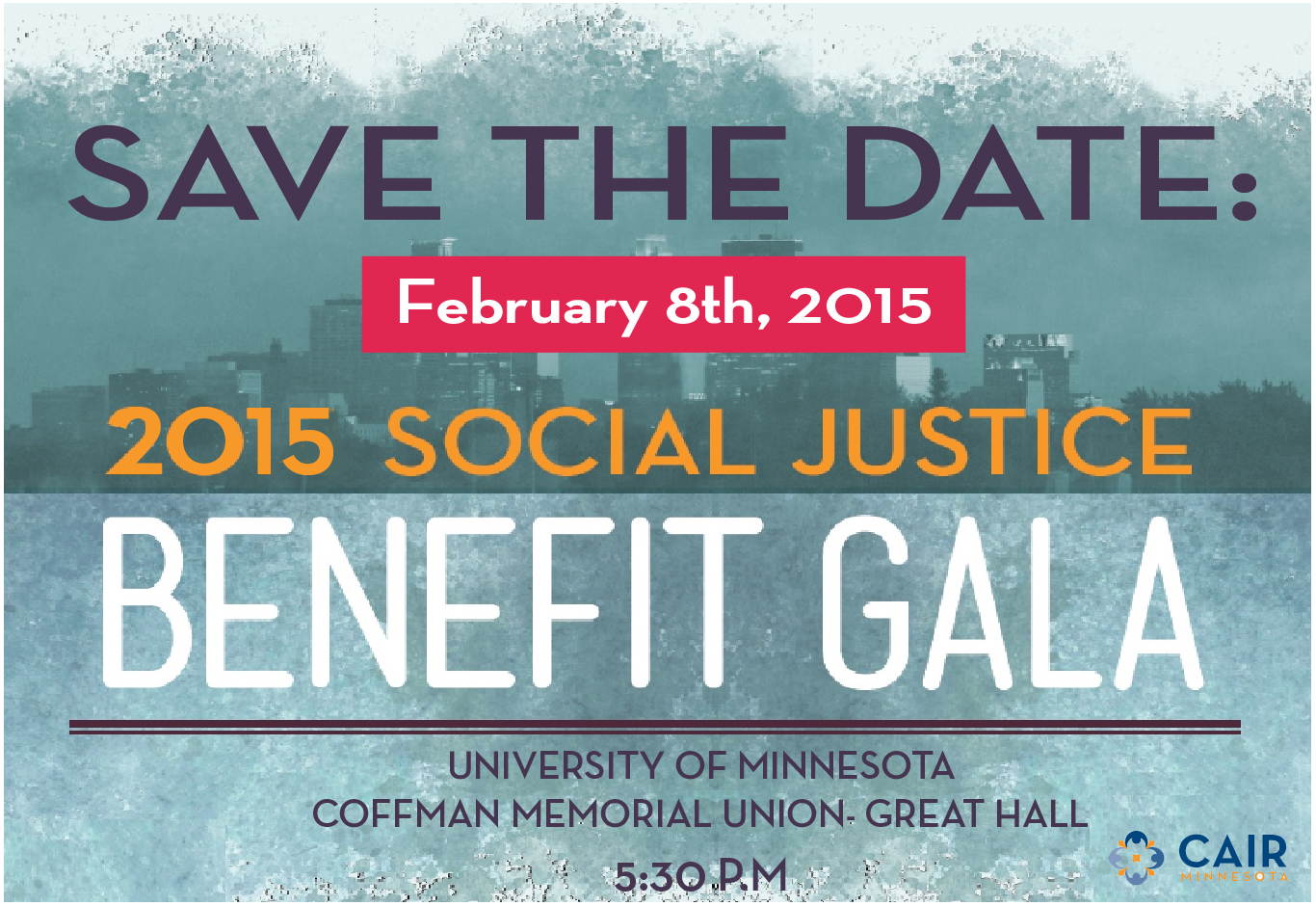 Save the Date! CAIR-MN Benefit Gala for Social Justice!